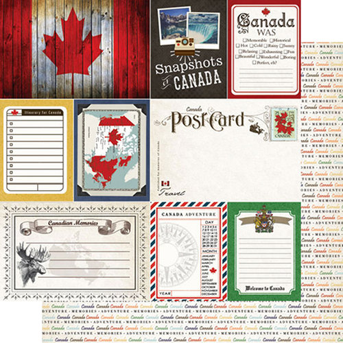 Canada Journal 12x12 Double Sided Scrapbooking Paper