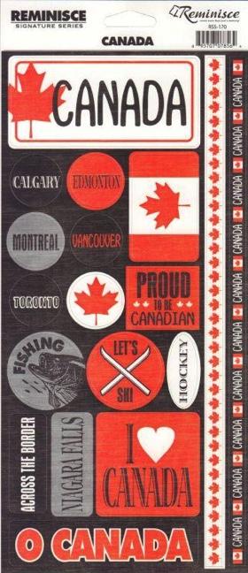 Canada Phrase Cardstock Scrapbooking Stickers