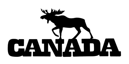 Canada Scrapbooking Laser Cut Title with Moose