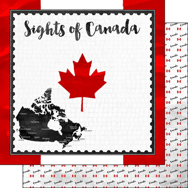 Sights of Canada 12x12 Double Sided Scrapbooking Paper