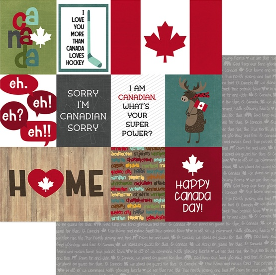 Canada True North Double Sided 12x12 Scrapbooking Paper