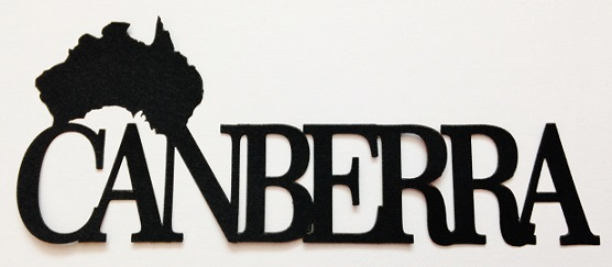 Canberra Scrapbooking Laser Cut Title with Australia