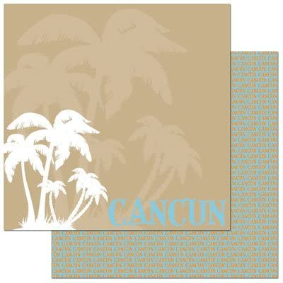 Cancun 12x12 Double Sided Scrapbooking Paper
