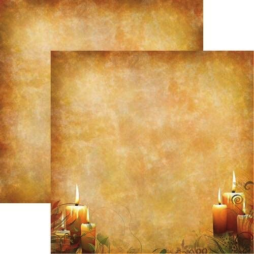 Candle Glow 12x12 Double Sided Scrapbooking Paper