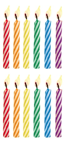 Birthday Candles Scrapbooking Mini Stickers