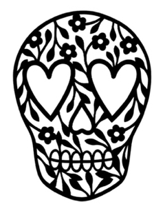 Candy Skull Intricate Laser Cut