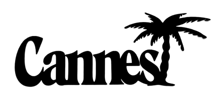 Cannes Scrapbooking Laser Cut Title with Palm Trees