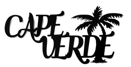 Cape Verde Scrapbooking Laser Cut Title with Palm
