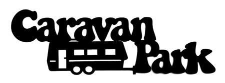 Caravan Park Scrapbooking Laser Cut Title with Caravan