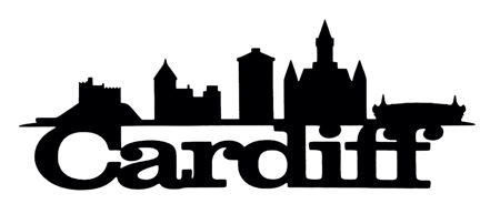 Cardiff Scrapbooking Laser Cut Title with Skyline