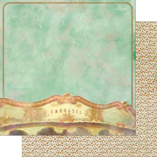 Carousel Double Sided 12x12 Scrapbooking Paper