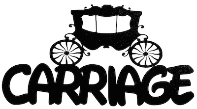 Carriage Scrapbooking Laser Cut Title with Carriage