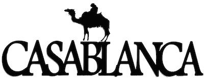 Casablanca Scrapbooking Laser Cut Title with Camel