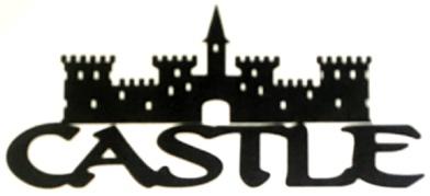 Castle Scrapbooking Laser Cut Title with large castle