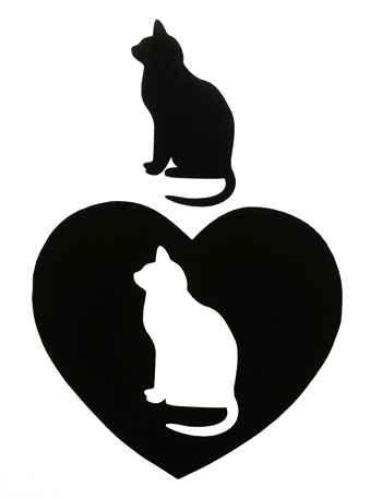 Cat Silhouette Scrapbooking Laser Cut Shape
