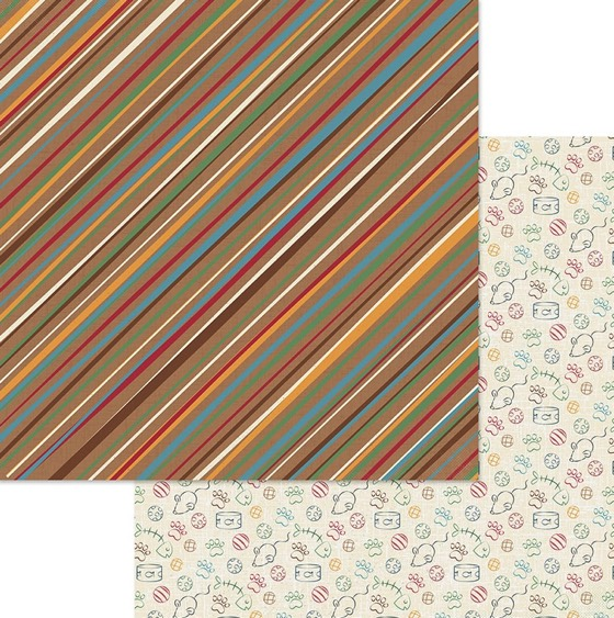 Cat and Mouse Double Sided 12x12 Scrapbooking Paper