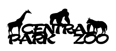 Central Park Zoo Scrapbooking Laser Cut Title with Animals