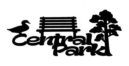 Central Park Scrapbooking Laser Cut Title with icons