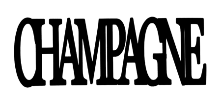Champagne Scrapbooking Laser Cut Title