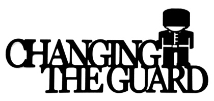 Changing of the Guard Scrapbooking Laser Cut Title with Guard