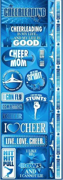 Cheerleader Cardstock Scrapbooking Stickers and Borders