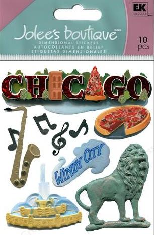 Destination Chicago Jolees 3D Scrapbooking Stickers