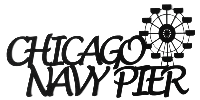 Chicago Navy Pier Scrapbooking Laser Cut Title with Big Wheel