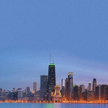 Chicago Skyline 12x12 Scrapbooking Paper