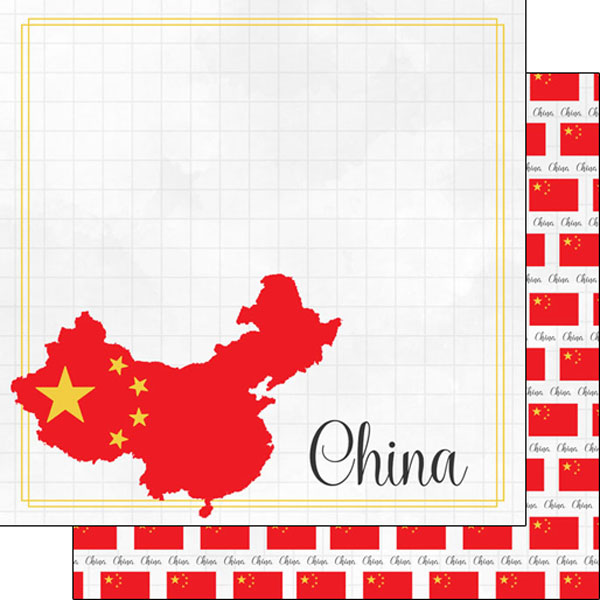 China 12x12 Double Sided Scrapbooking Paper