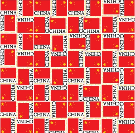 China Flags 12x12 Scrapbooking Paper