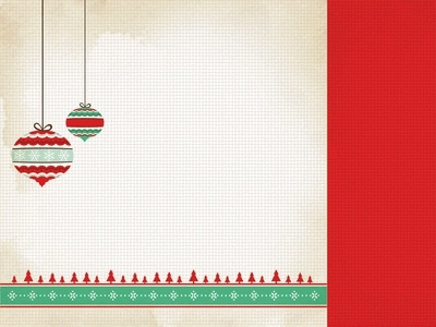 Baubles 12x12 Double Sided Scrapbooking Paper