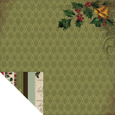 Christmas Bells 12x12 Double Sided Scrapbooking Paper