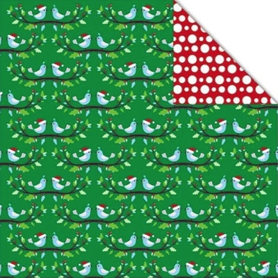 Christmas Birds 12x12 Double Sided Scrapbooking Paper