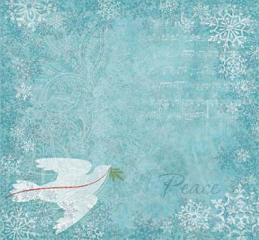 Christmas Dove 12x12 Scrapbooking Paper