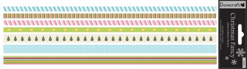 Christmas Trees Scrapbooking Glittered Ribbon Stickers