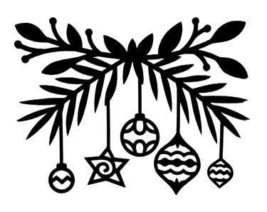 Christmas Decorations Intricate Scrapbooking Laser Cut