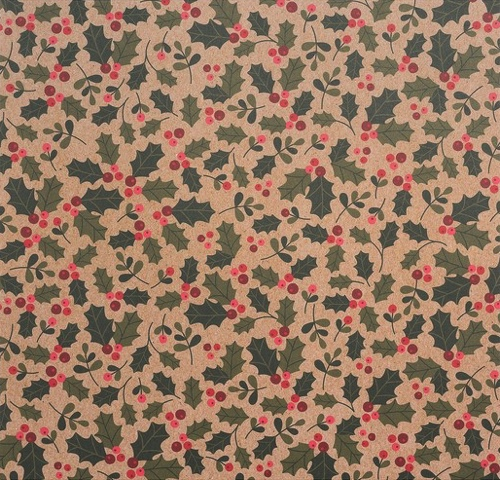 Christmas Holly 12x12 Scrapbooking Paper