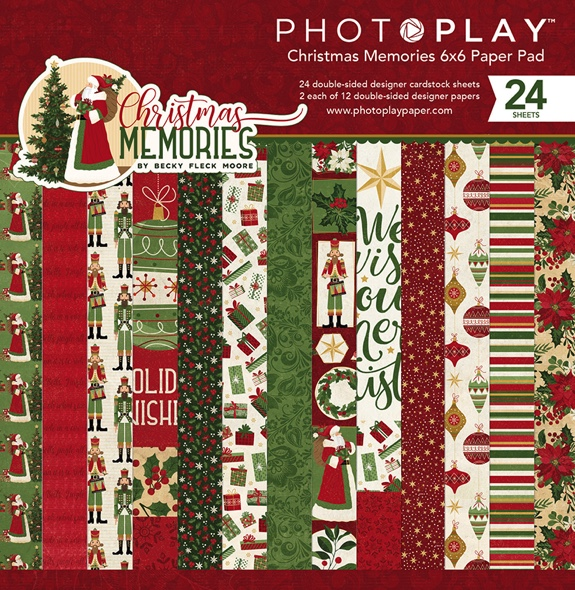 "Christmas Memories Scrapbooking 6"" x 6"" Paper Pad - 24 double sided sheets"