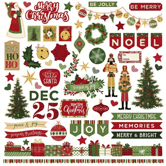 Christmas Memories 12x12 Cardstock Scrapbooking Stickers