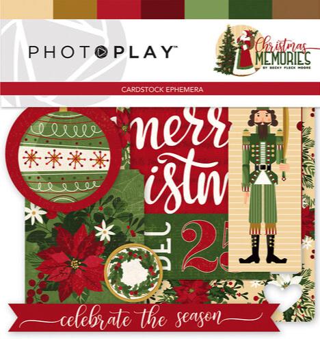 Christmas Memories Die Cut Scrapbooking Cardstock Ephemera