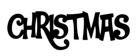 Christmas Scrapbooking Laser Cut Title