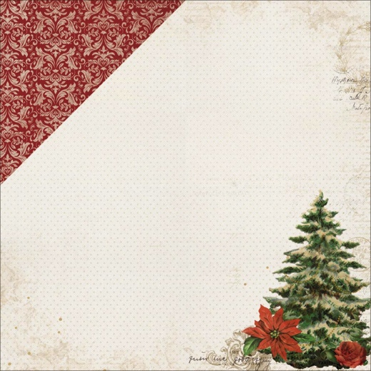 Christmas Tree 12x12 Double Sided Scrapbooking Paper