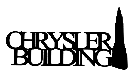 Chrysler Building Scrapbooking Laser Cut Title with building