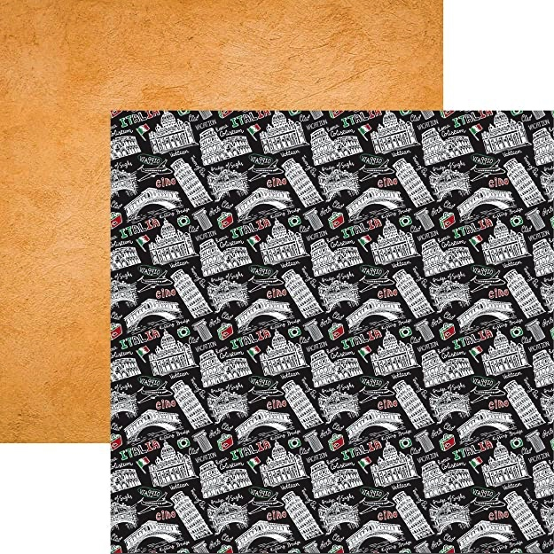 Ciao Italia 12x12 Double Sided Scrapbooking Paper