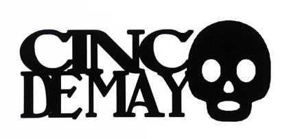 Cinco de Mayo Scrapbooking Laser Cut Title with Skull