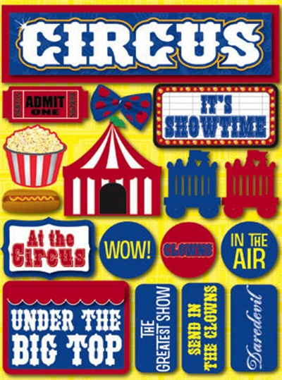 Circus 3D Scrapbooking Stickers
