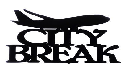 City Break Scrapbooking Laser Cut Title with Plane