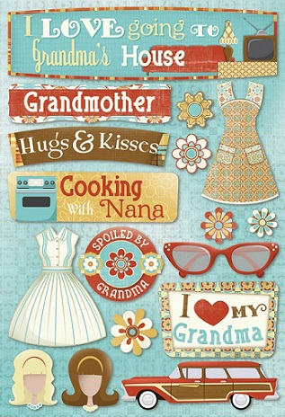 Classic Grandma Scrapbooking Stickers