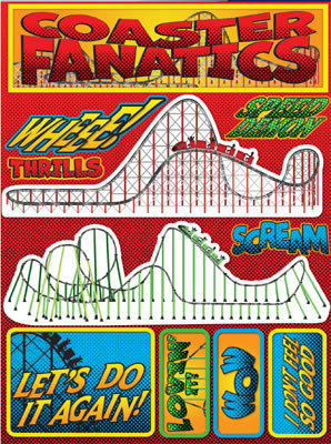 Coaster Fanatics 3D Scrapbooking Stickers