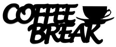 Coffee Break Scrapbooking Laser Cut Title with Cup